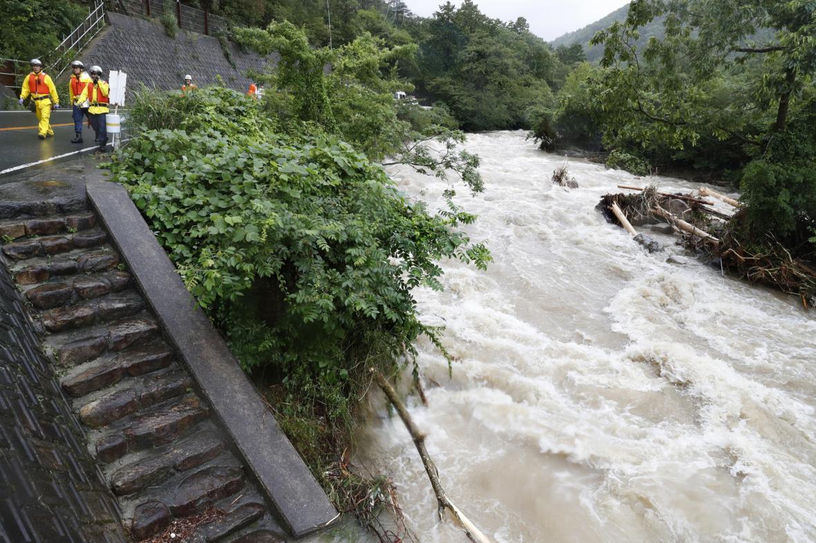 Japonsko zasáhly vydatné deště