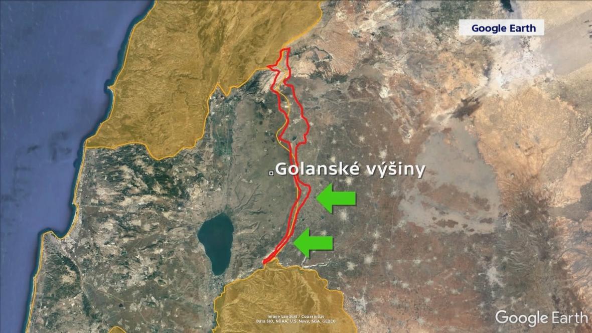 Oblast, kam se stahují uprchlíci ze syrského Dará