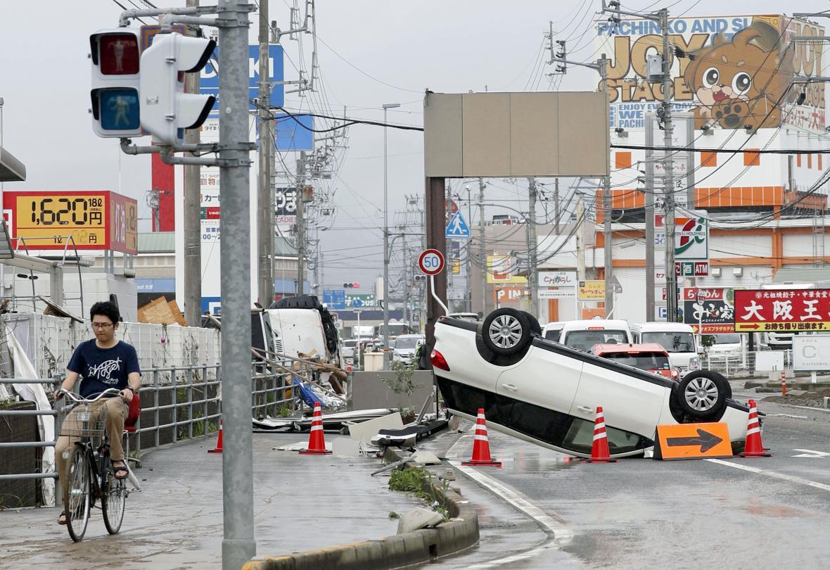 Následky záplav v Japonsku