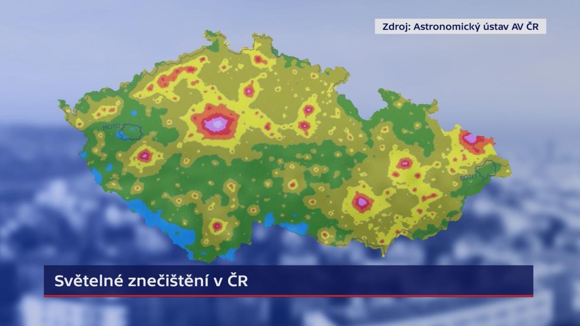 Mapa světelného znečištění