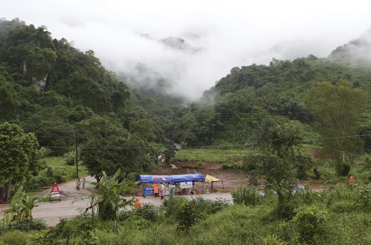 Checkpoint u zatopeného komplexu jeskyní