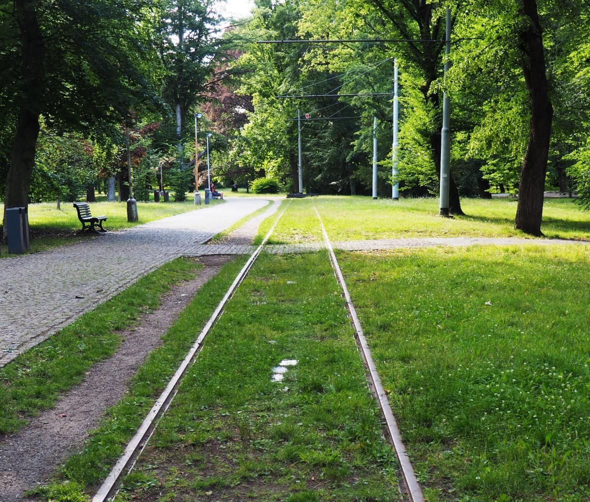 Odstavná kolej ve Stromovce