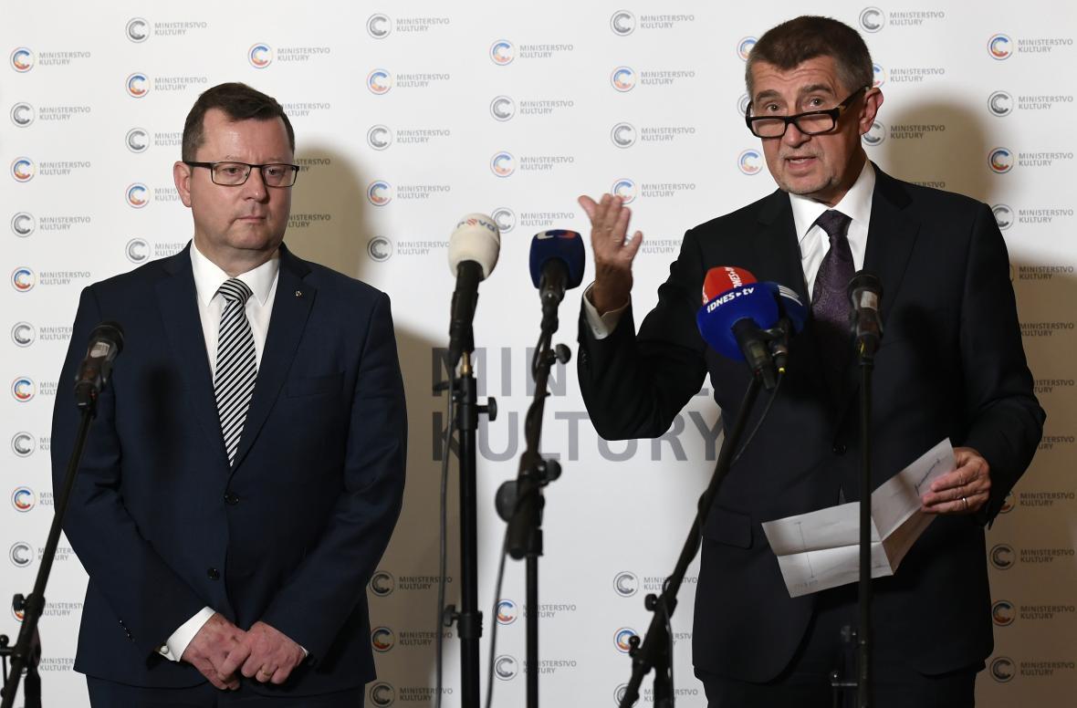 Antonín Staněk a Andrej Babiš
