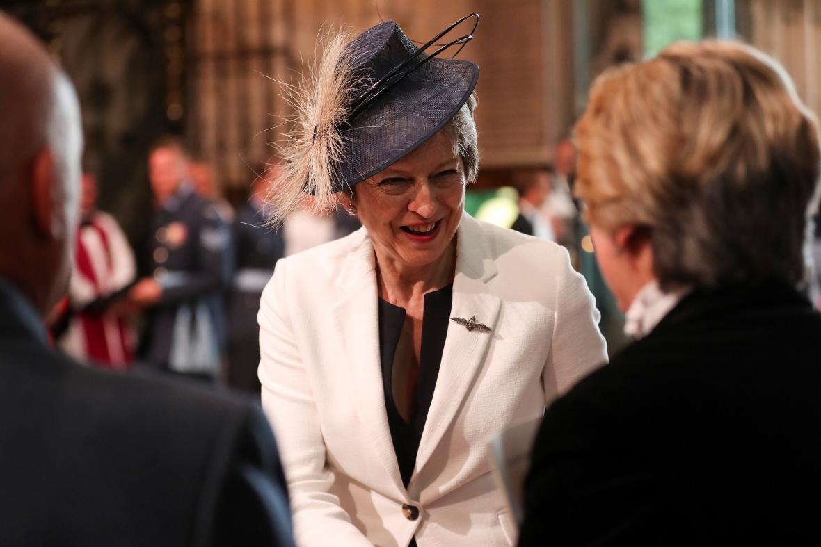 Oslav se účastnila i britská premiérka Theresa Mayová