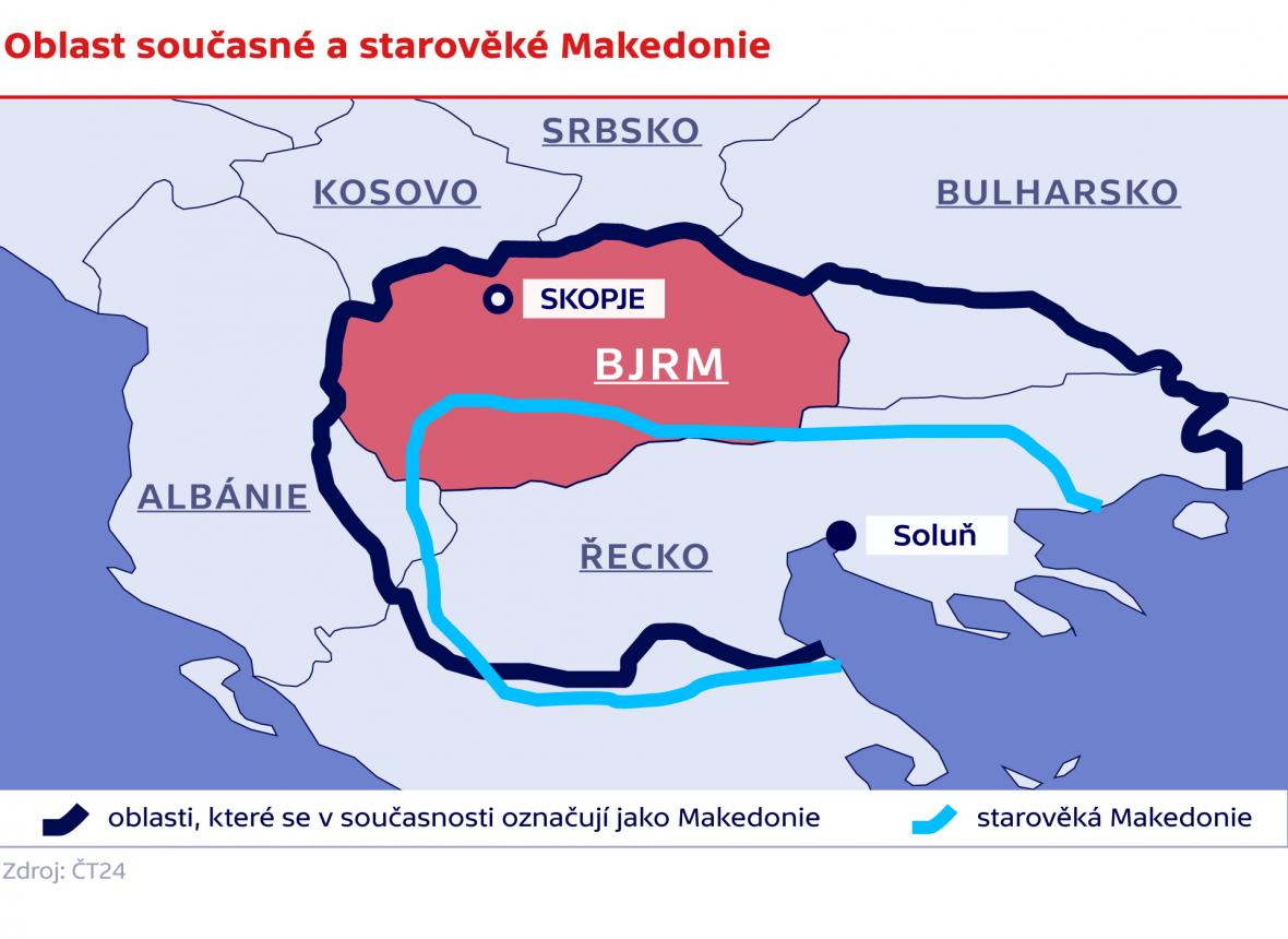 Oblast současné a starověké Makedonie