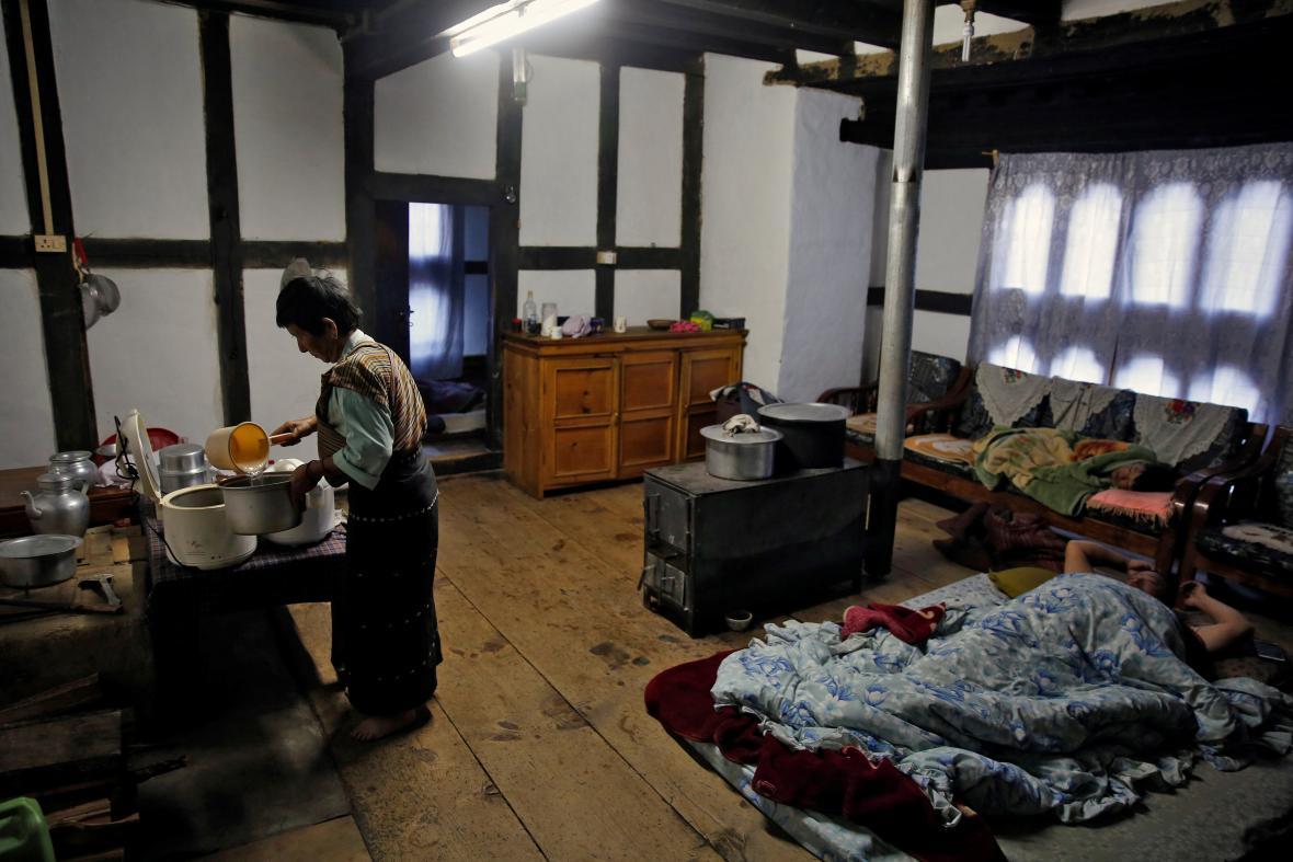 Domov jedné z bhútánských rodin