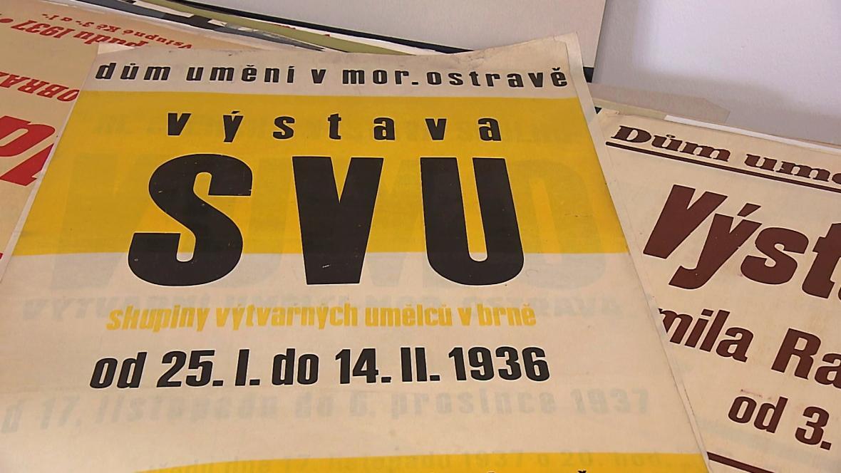 Plakáty GVU z doby první republiky
