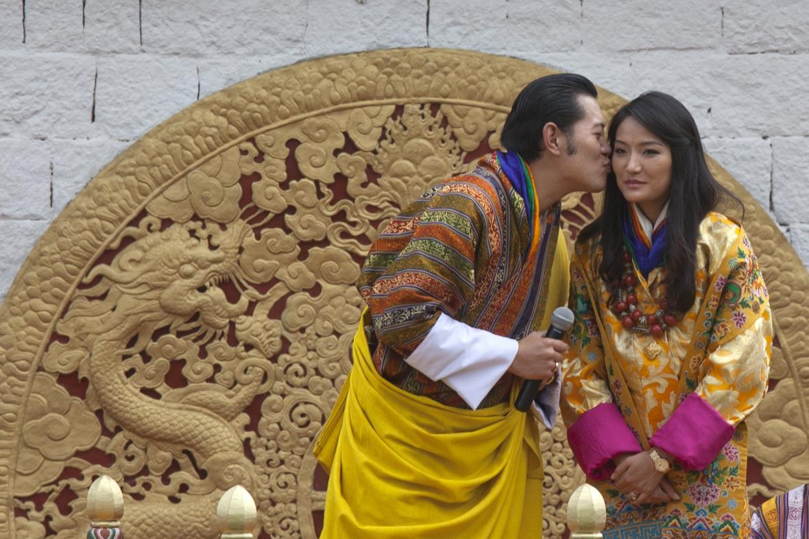 Bhútánský královský pár