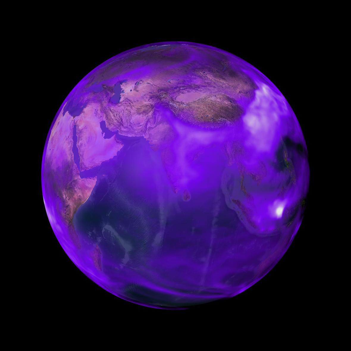 Výskyt černého uhlíku na Zemi