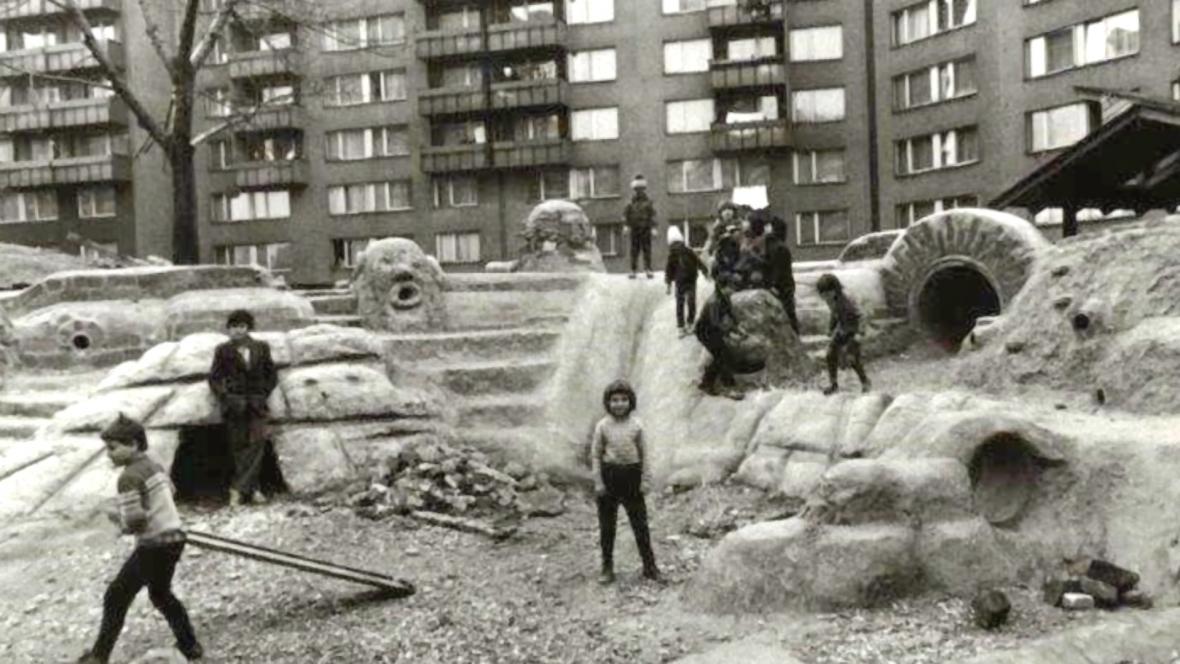 Hřiště Kurta Gebauera na Fifejdách na archivním snímku