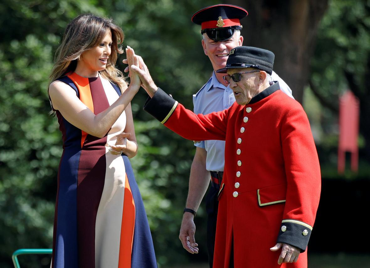 Britský veterán s Melanií