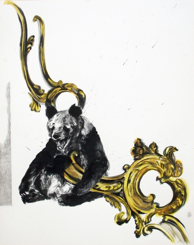 Markéta Hlinovská / z cyklu Piano Nobile I, 2018, tempera na papíře