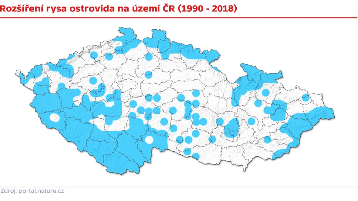 Rozšíření rysů v Česku