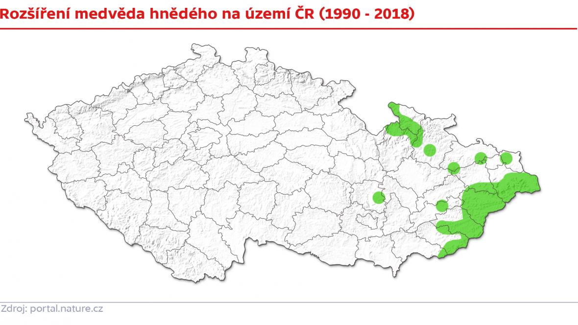 Rozšíření medvědů v Česku
