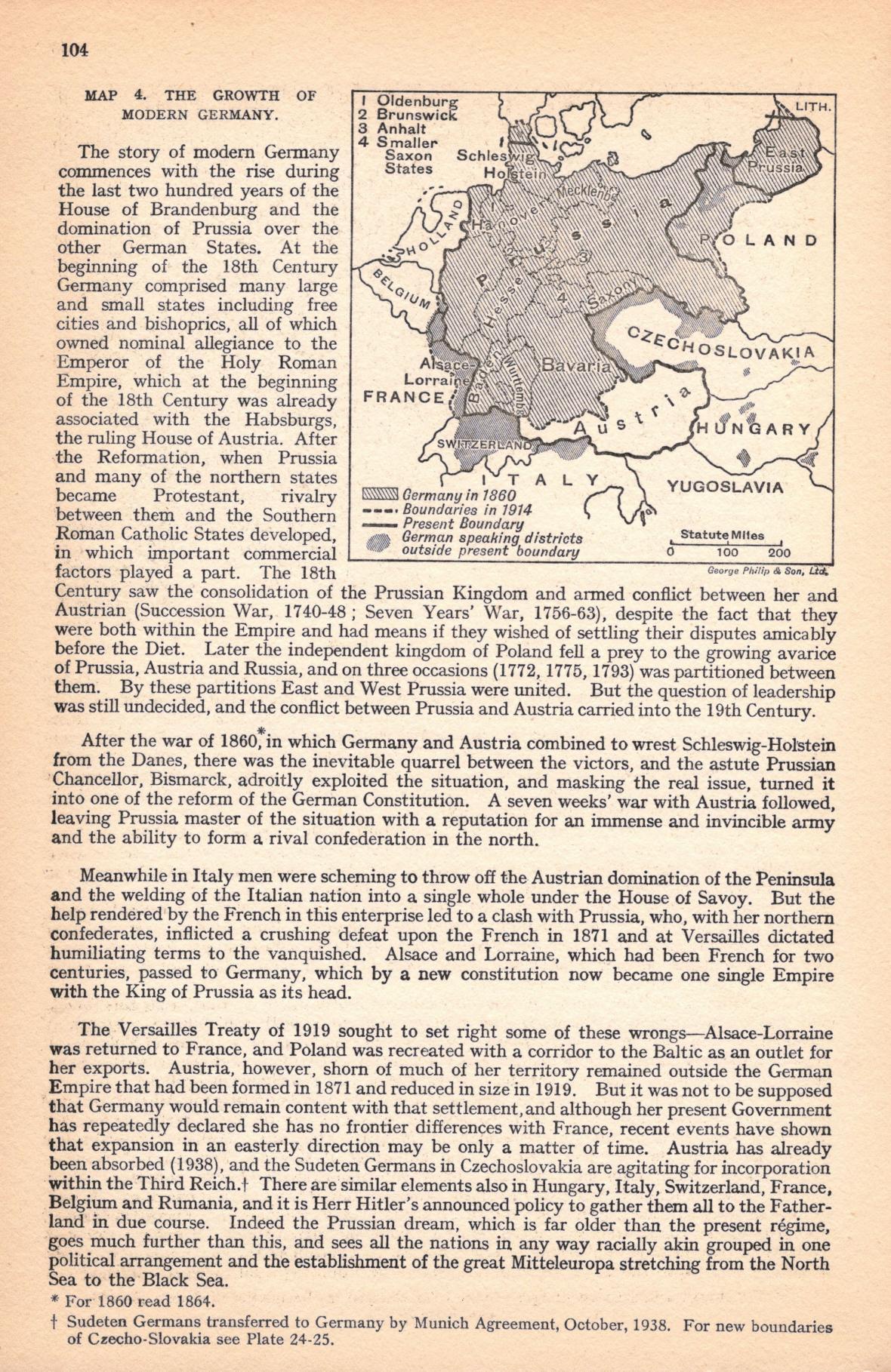 Německé ambice v britském atlasu z r. 1938