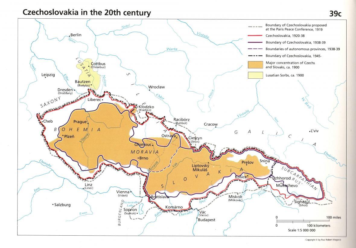 Zmenšování ČSR ve slavném Magocsiho atlase