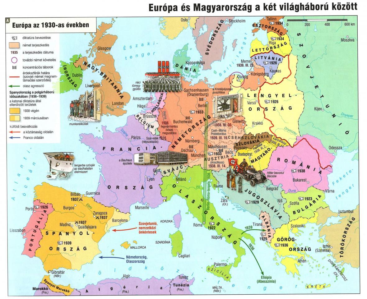 Meziválečná evropa v maďarském atlase