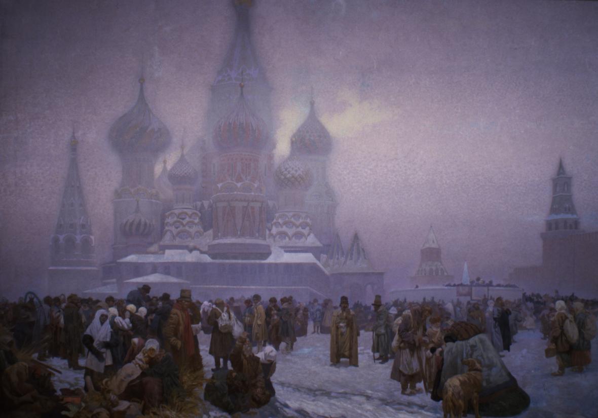 Zrušení nevolnictví na Rusi (1861), 1914, vaječná tempera, olej, plátno, 610 x 810 cm