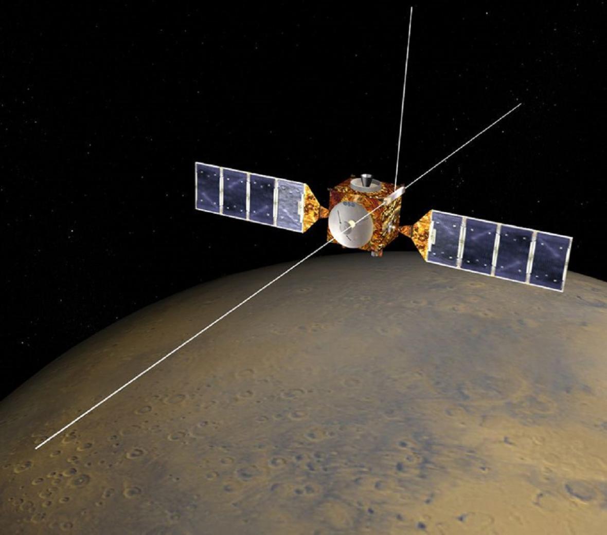 Mars Express studující Rudou planetu