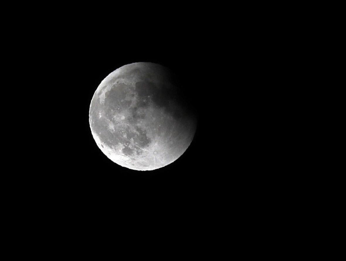 Zatmění Měsíce nad  Gran Canaria
