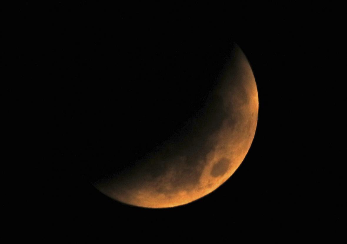 Zatmění Měsíce nad Japonskem