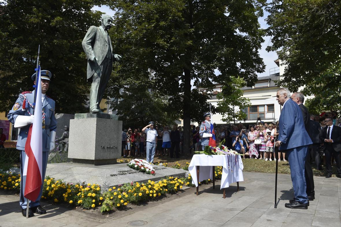 Miloš Zeman a Andrej Kiska v Hodoníně