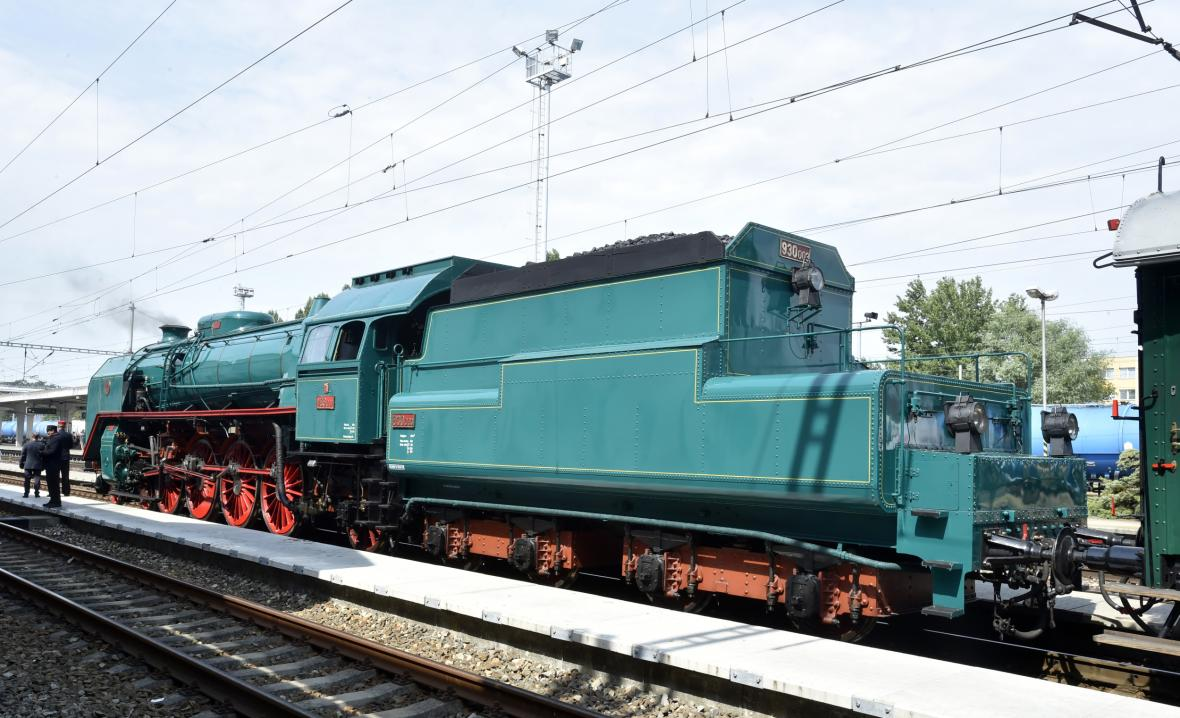 Lokomotiva přezdívaná zelený anton, která tahla prezidenty z Hodonína