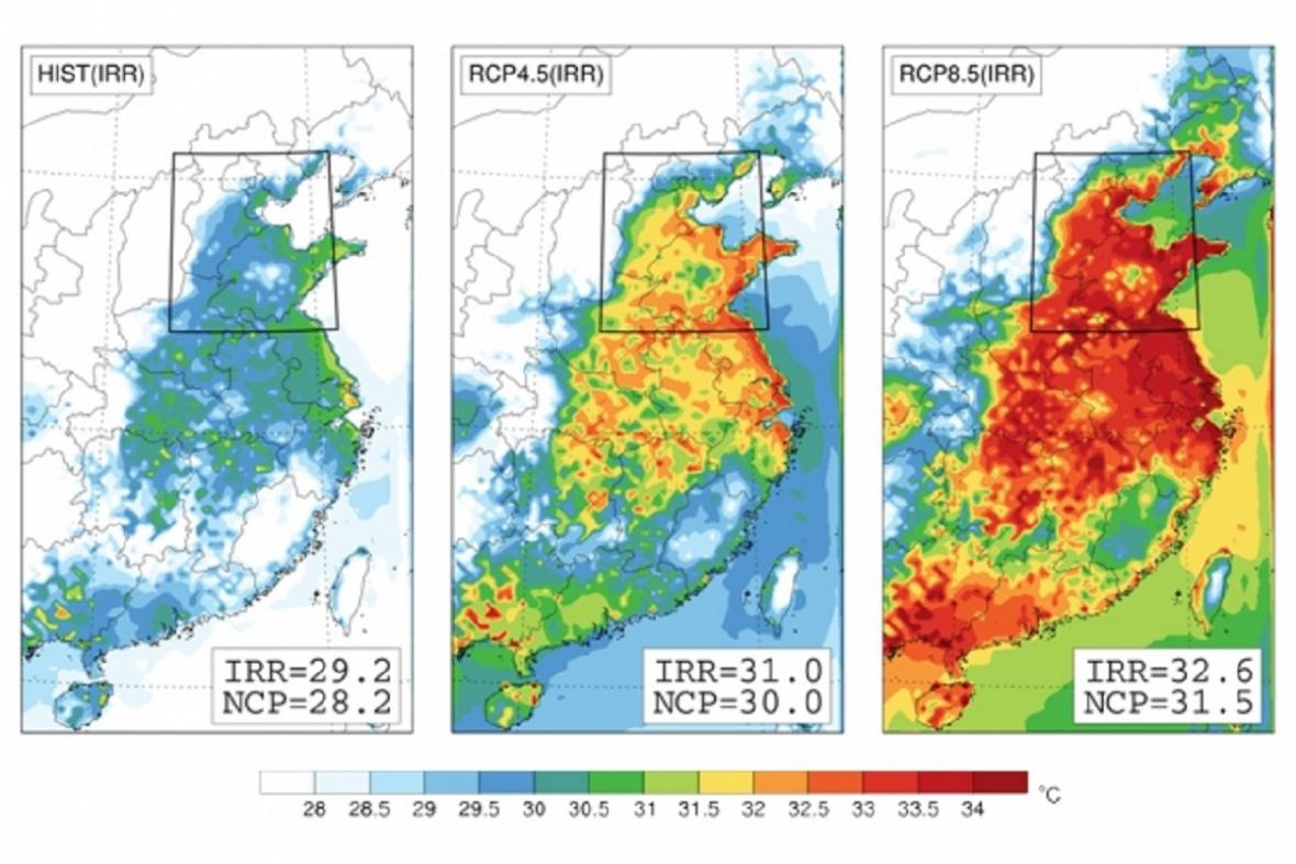 Predikce klimatického vývoje v Číně
