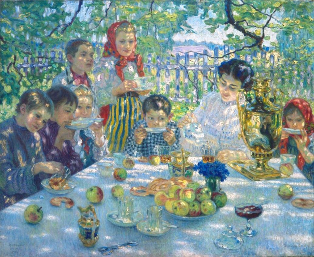 Nikolaj Petrovič Bogdanov-Bělskij / Svačina, 1910
