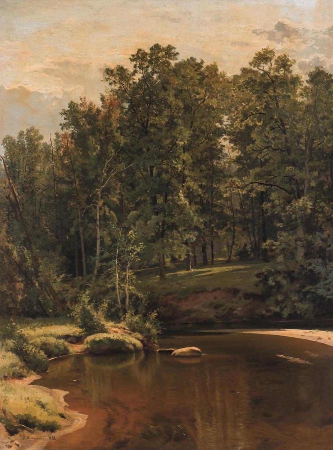 Ivan Ivanovič Šiškin / Les s potokem, 1886