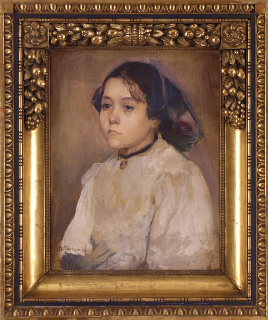Maria Konstantinovna Baškircevová / Portrét dívky, 1880
