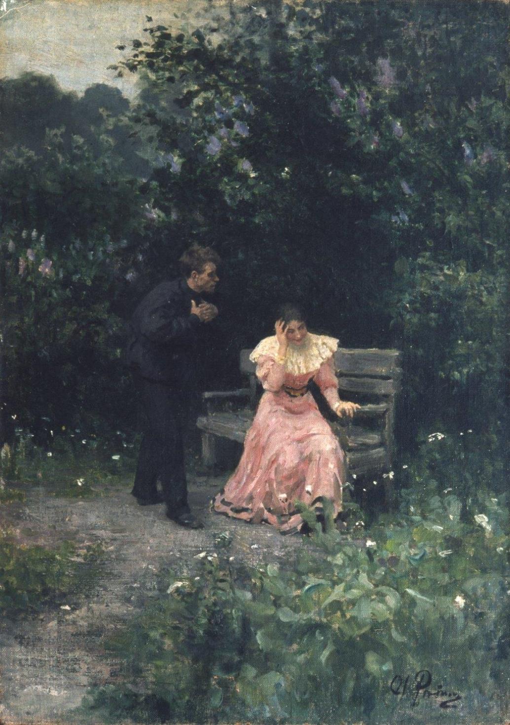 Ilja Jefimovič Repin / Vyznání lásky, 1889-1897