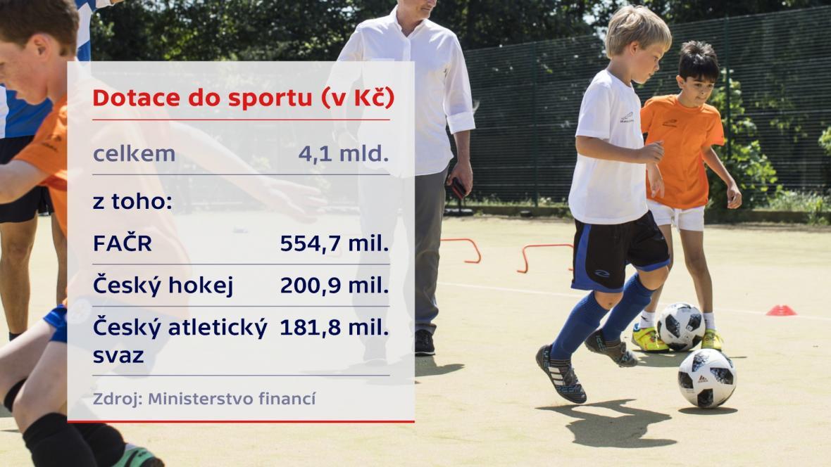Celková výše dotací sportovním organizacím