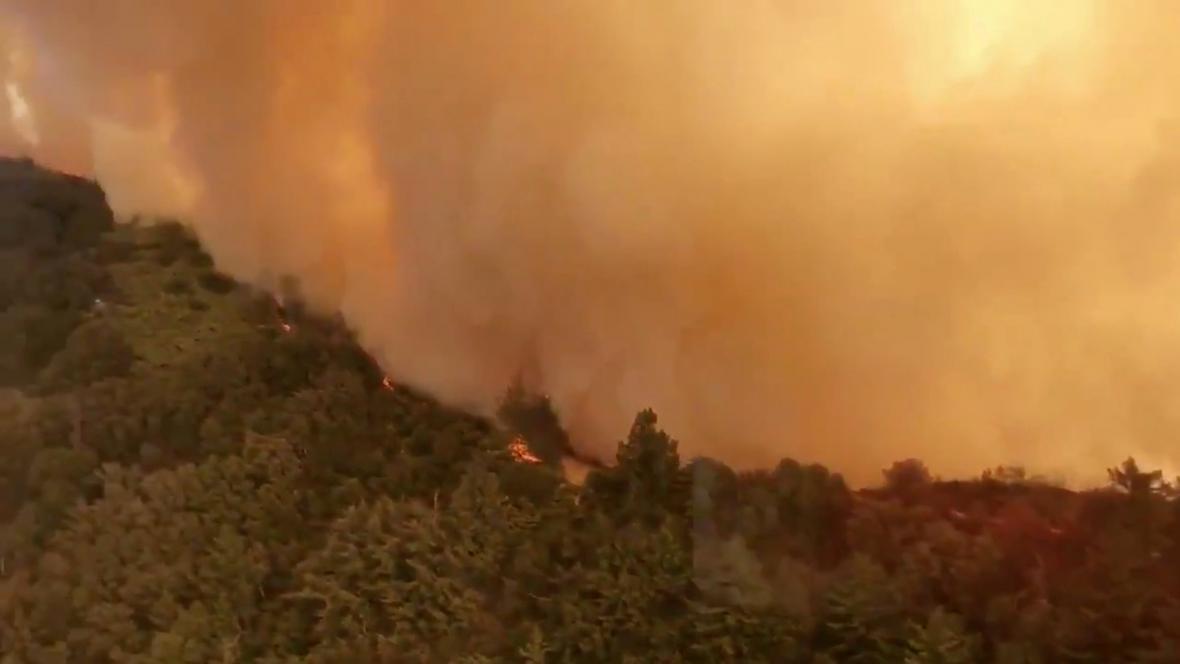 Lesní požáry v Kalifornii