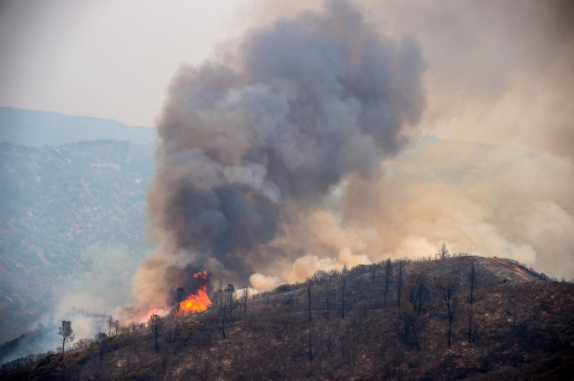 Požár v oblasti Mendocino