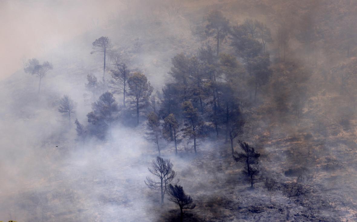 Lesní požár blízko Valencie