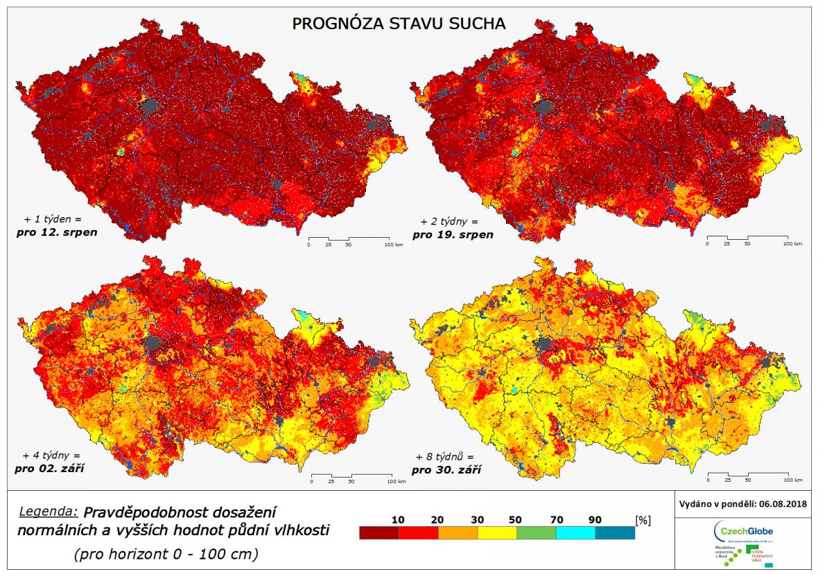 Dlouhodobá předpověď sucha v ČR