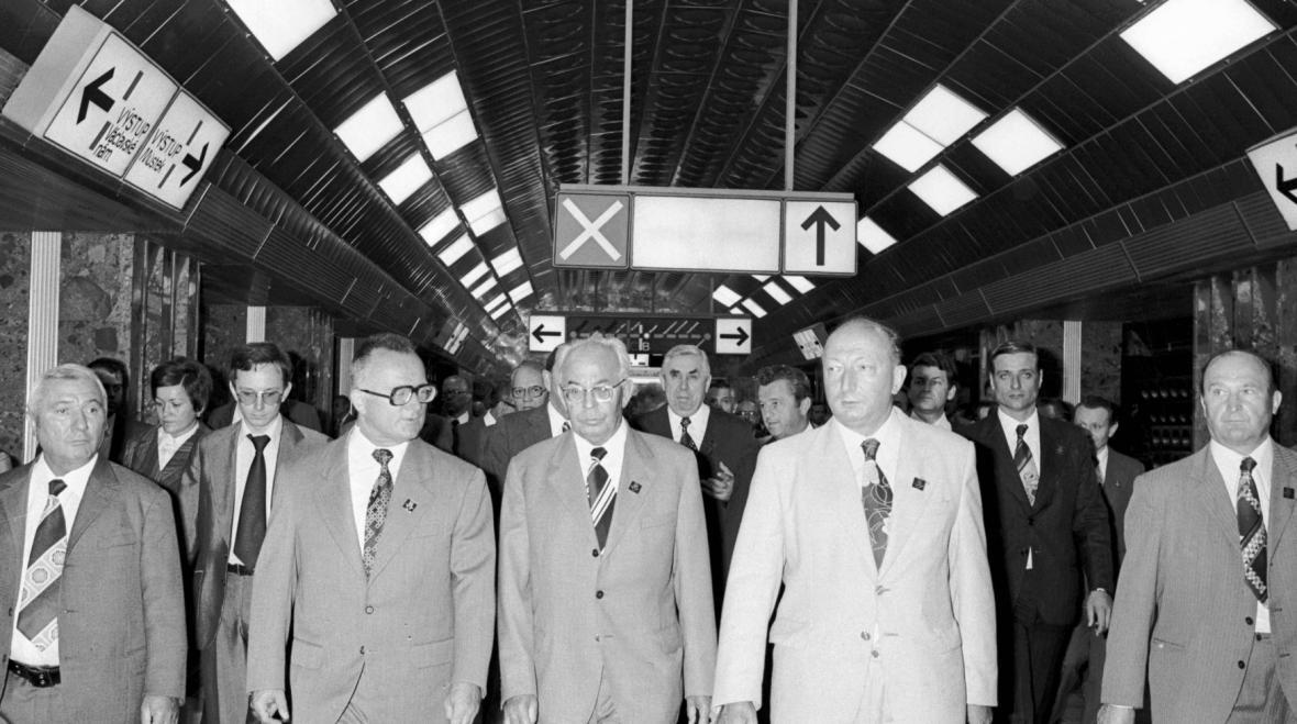 První cestující v metru A