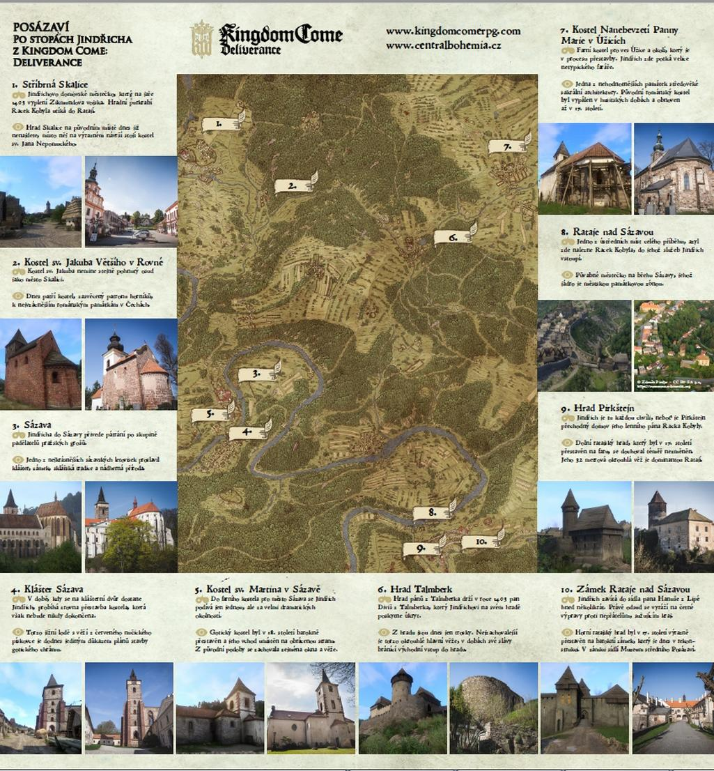 Mapa ke hře Kingdom Come: Deliverance