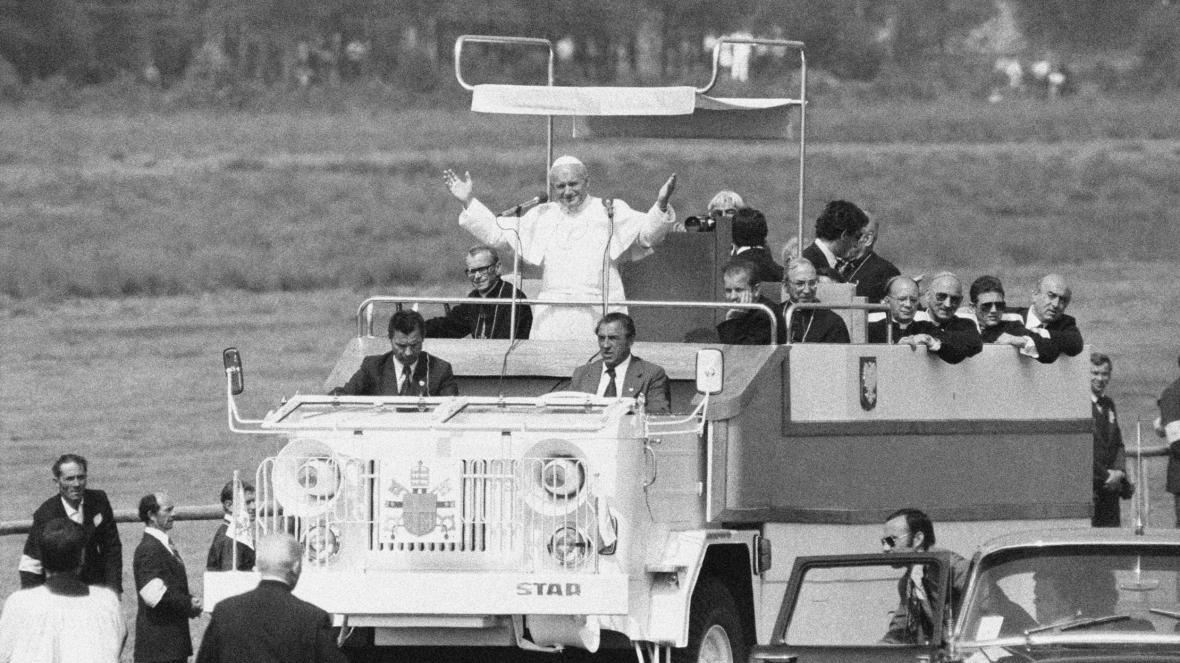 Jan Pavel II. na návštěvě Polska v roce 1979