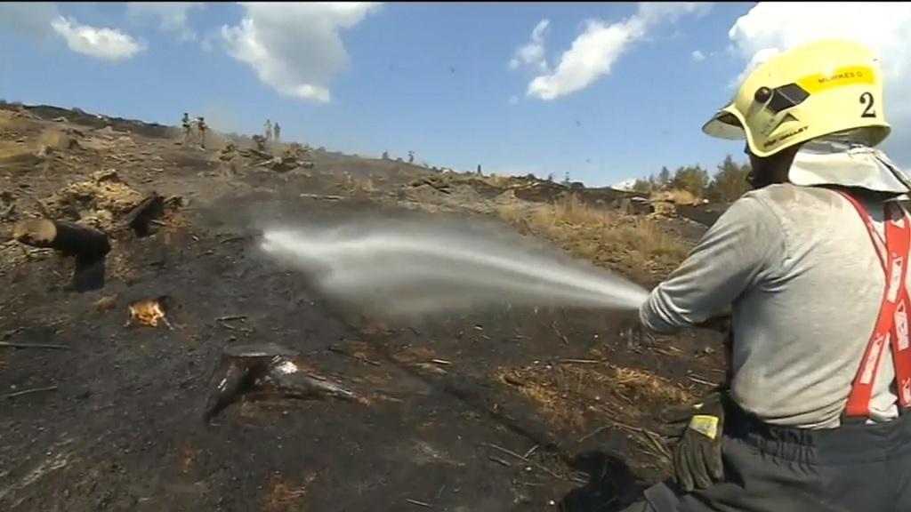 Prolévání spáleniště na Bruntálsku