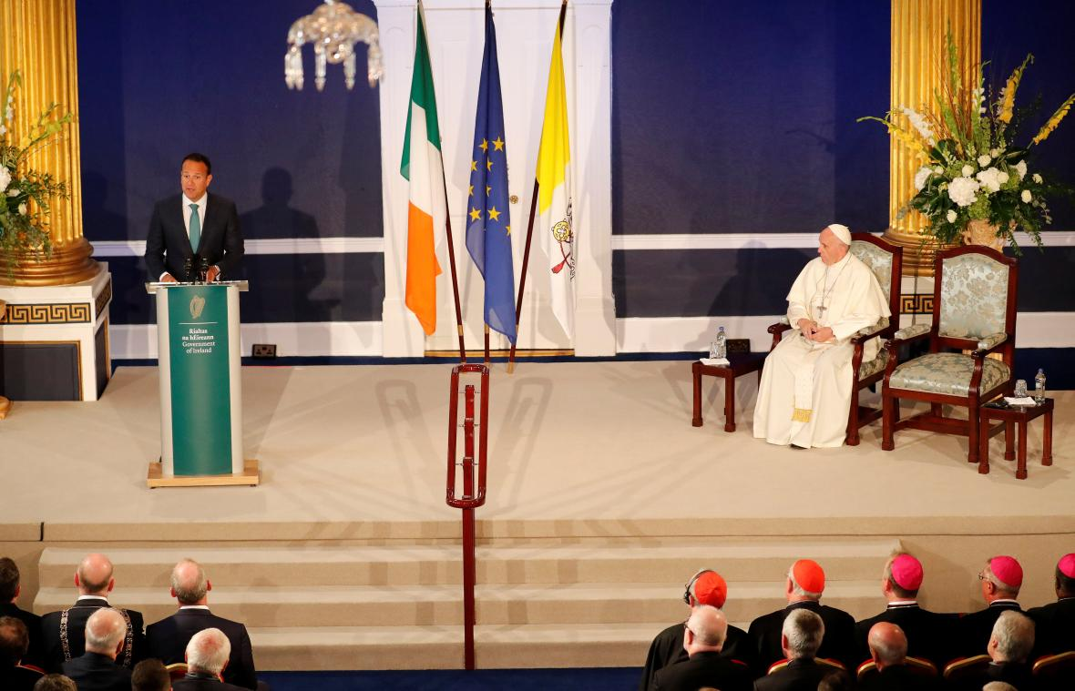 Papež s irským premiérem Leem Varadkarem