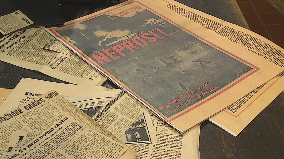 Zvláštní vydání novin v srpnu 1969