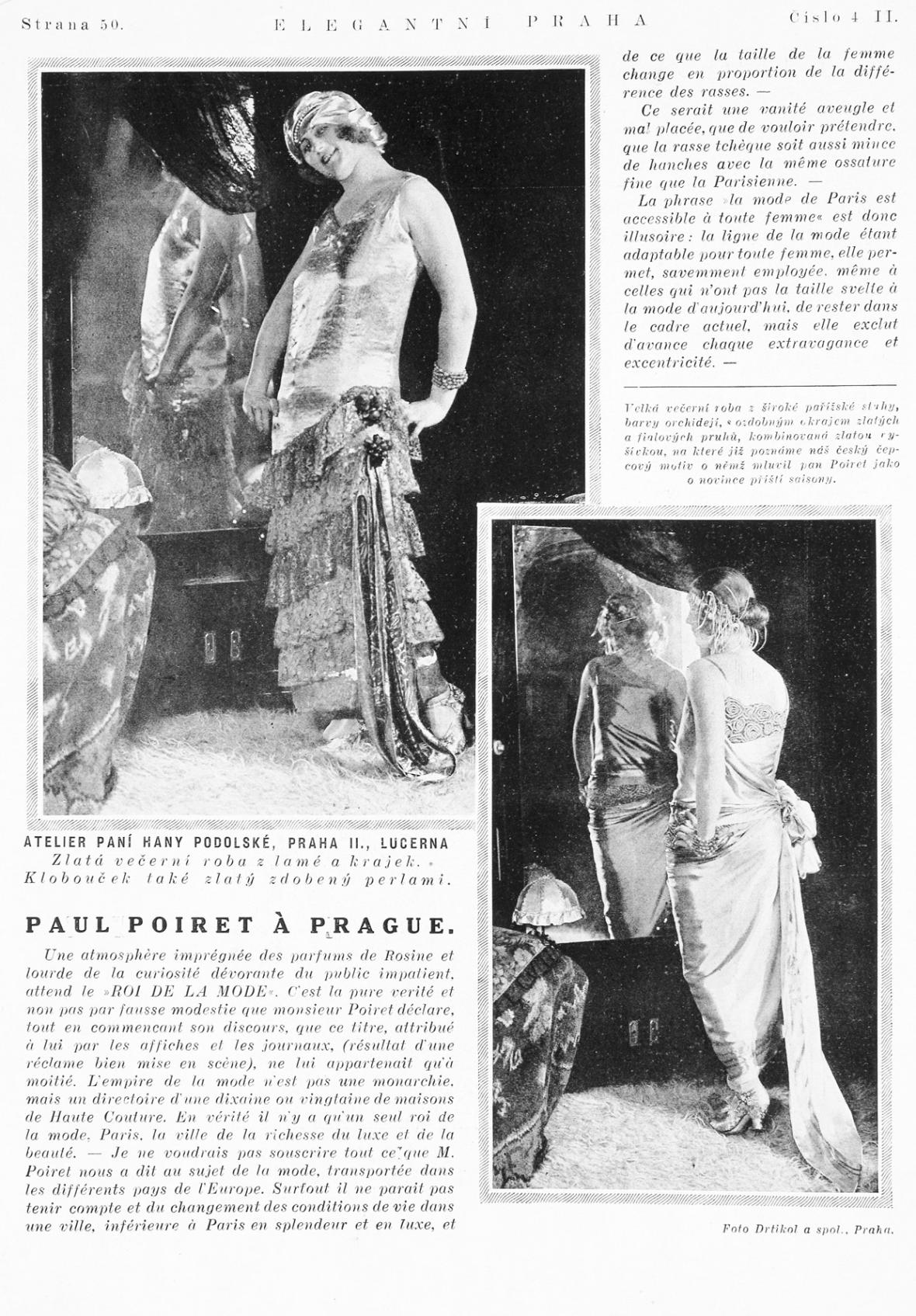 Elegantni Praha II, č. 4, leden 1924, s. 50, fotografie: František Drtikol