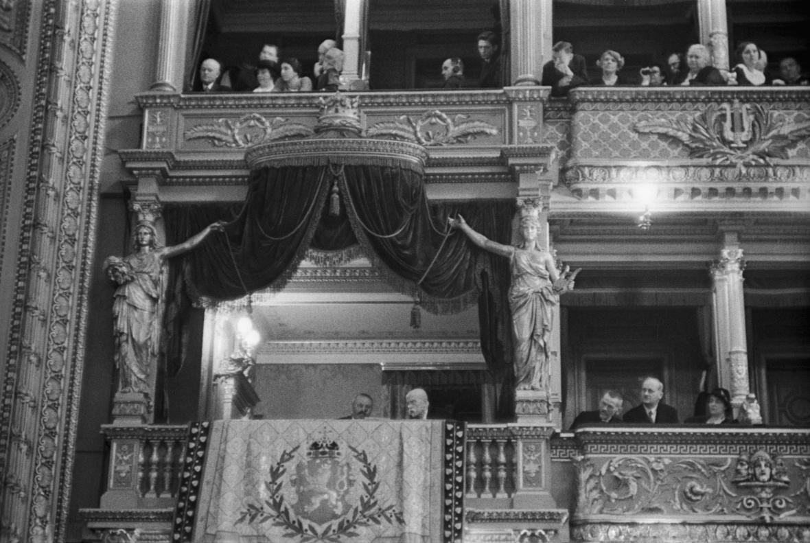 Tomáš Garrigue Masaryk na představení Libuše v roce 1931