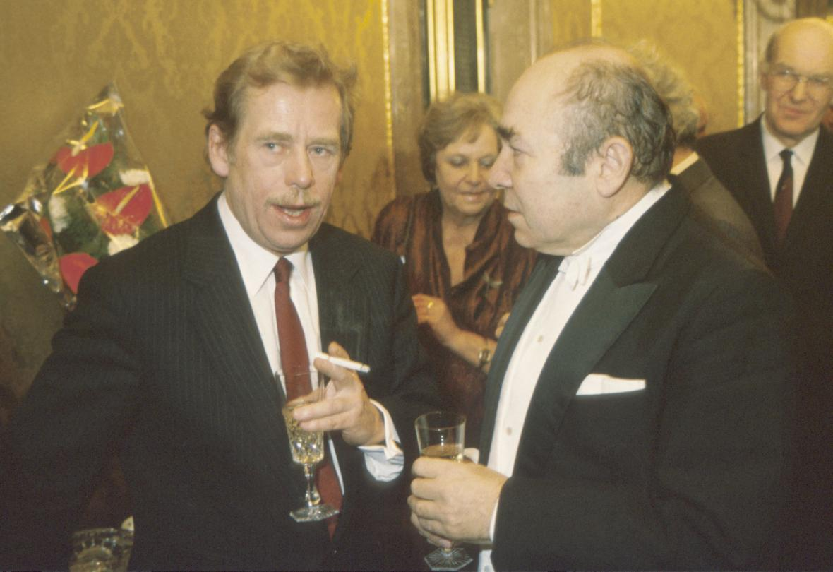 Václav Havel a dirigent Zdeněk Košler