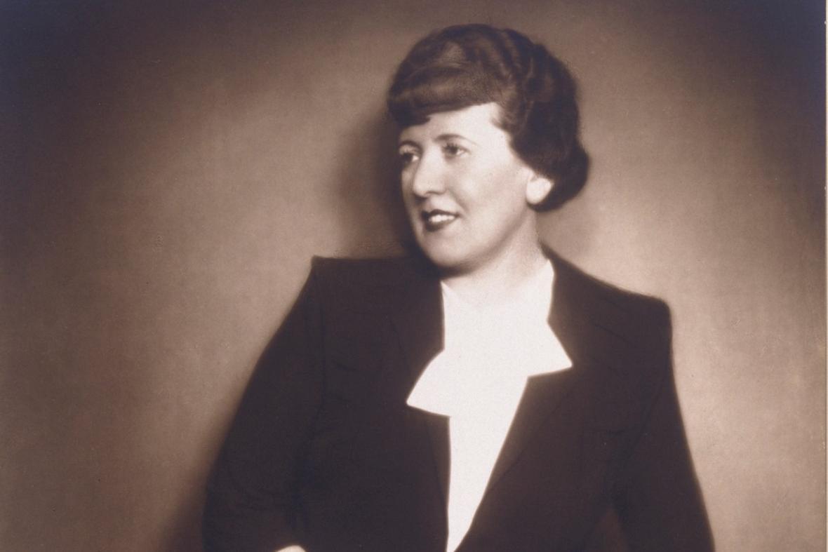 Hana Podolská, 1933 (výřez z fotografie)