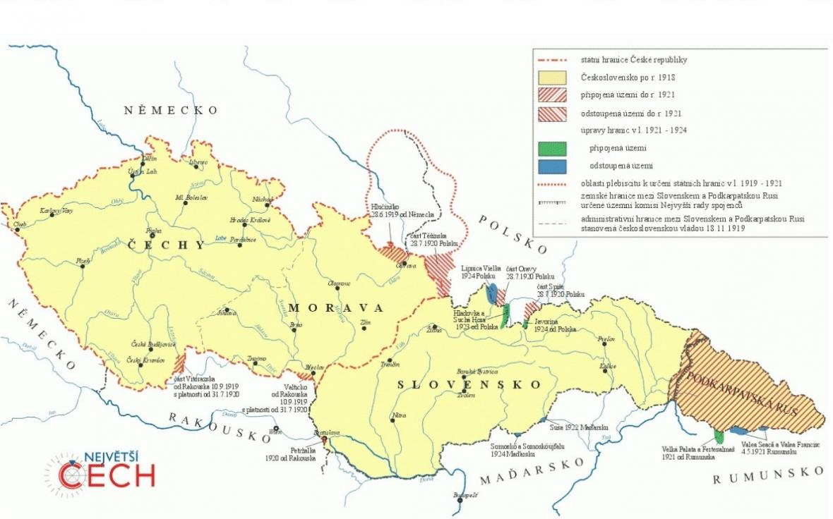 Proměny hranic Československa