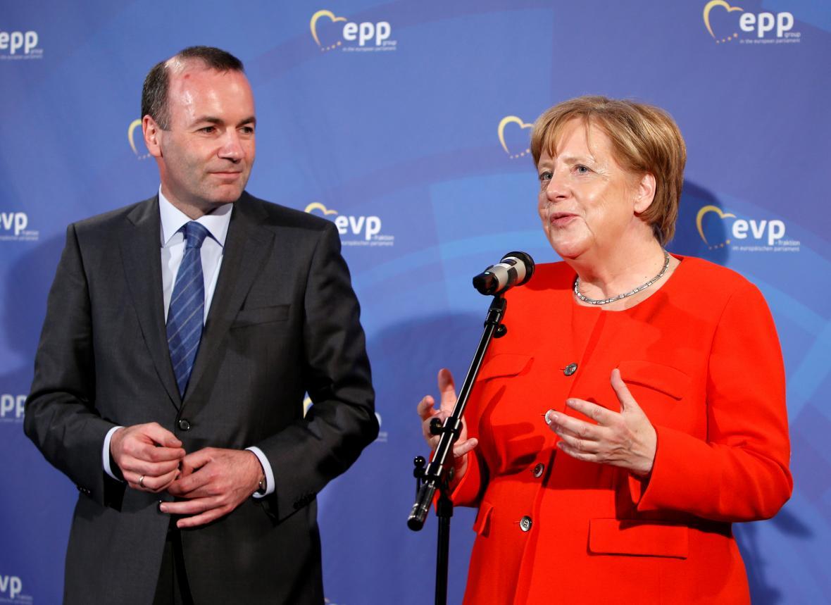Manfred Weber a Angela Merkelová