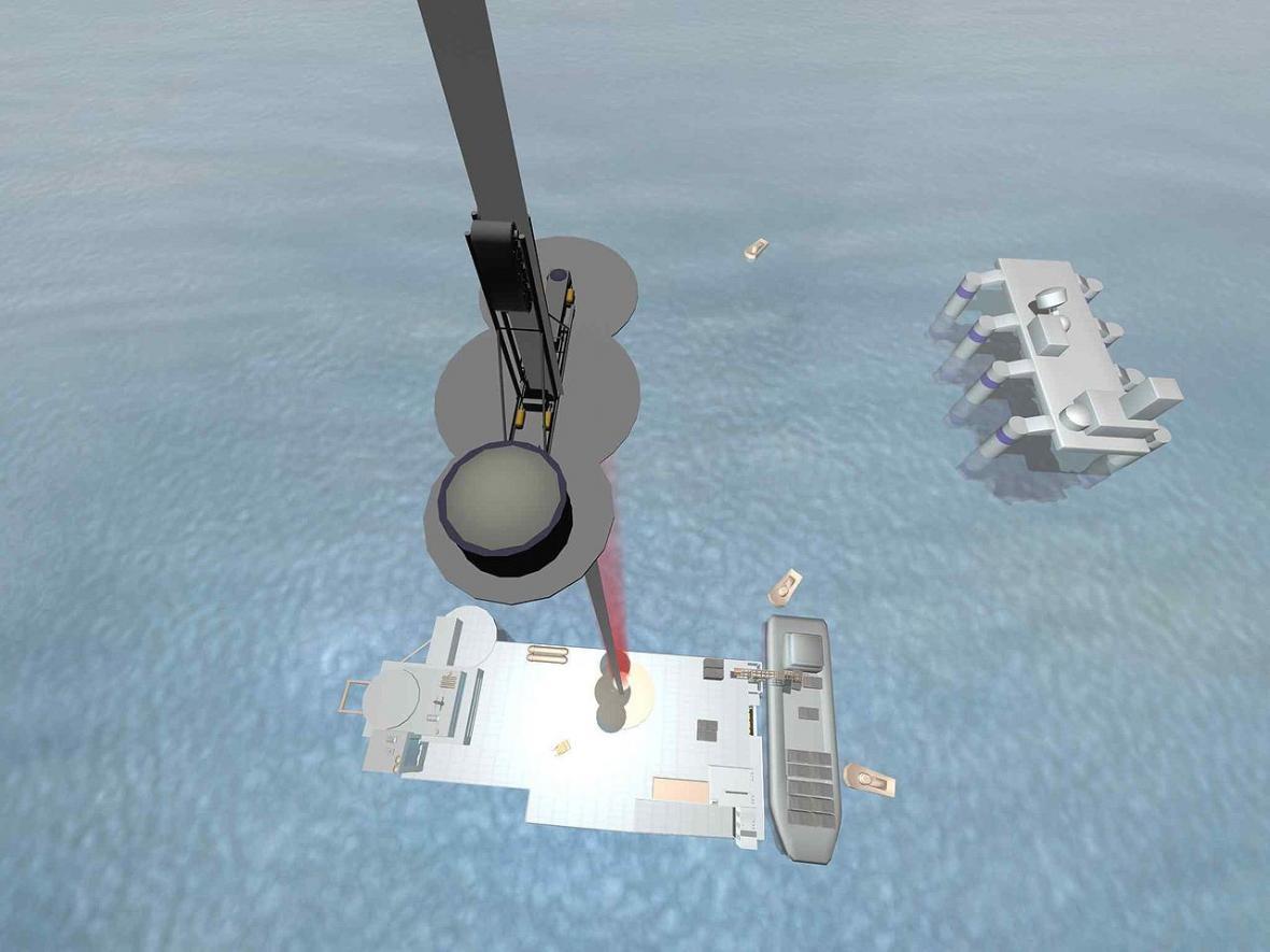 Jedna z variant vesmírného výtahu počítá s tím, že stanice na Zemi bude umístěná na plovoucí plošině